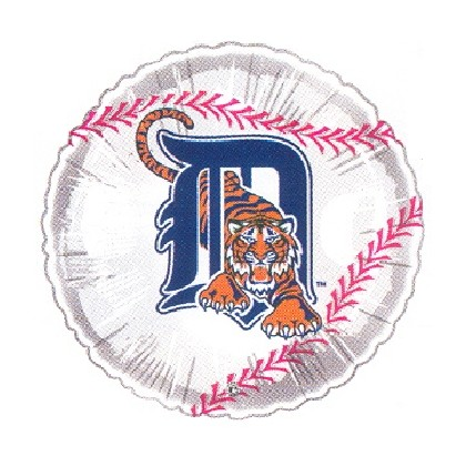 """Detroit Tigers"" Baseball Mylar Balloon"