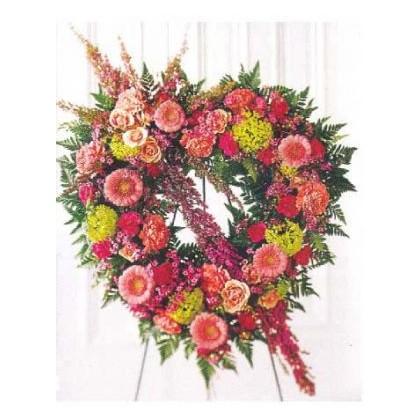Eternal Rest Heart Wreath