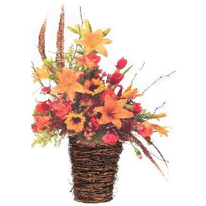 A European Harvest Basket Arrangement