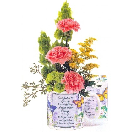 "Our ""Serenity Prayer"" Mug Arrangement"