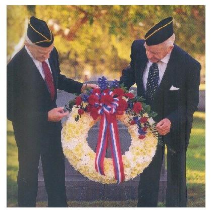 Patriotic Fresh Standing Wreath
