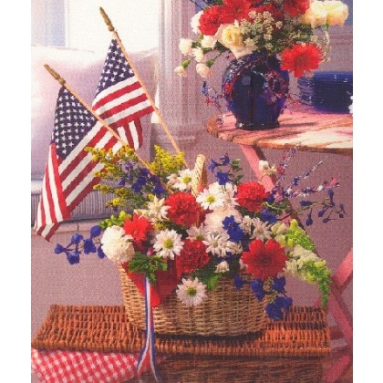 Patriotic Home Basket