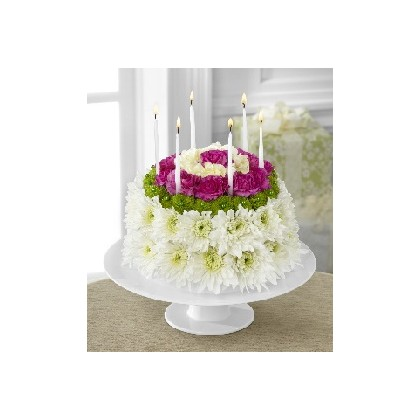 A Birthday Flower Cake