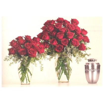 Timeless Rose Vased Tribute