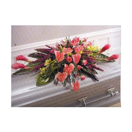 Tropical Tapestry Casket Cover