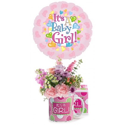 Very Sweet Baby Girl Bouquet