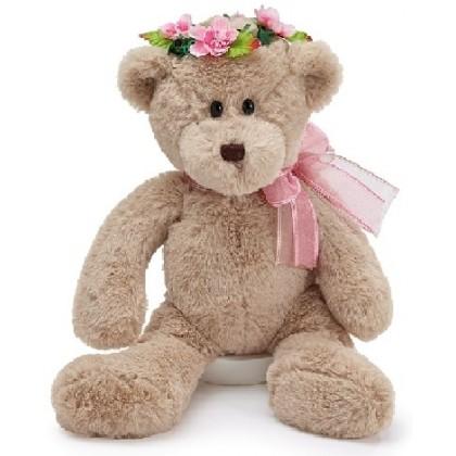 Flower Crown Plush Bear