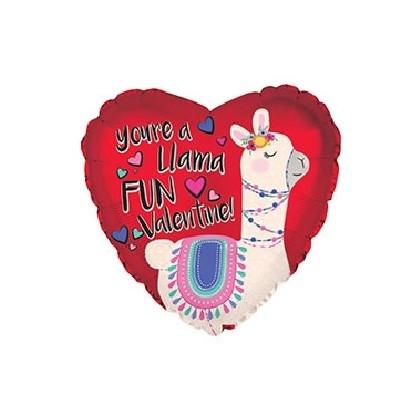 """""""Lotta Llama Love"""" Mylar Balloon"""