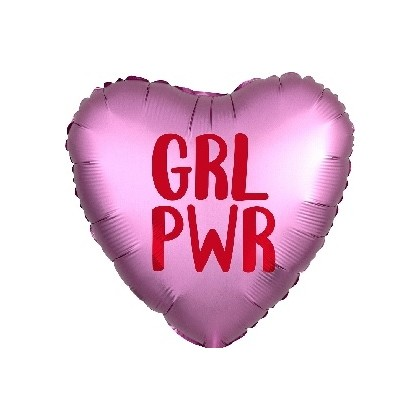 """GRL PWR"" Girl Power Mylar Balloon"