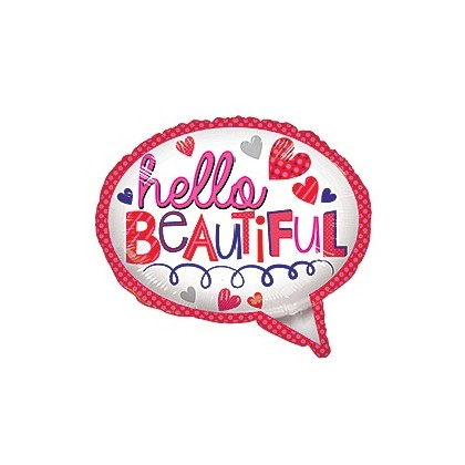 """Hello Beautiful"" Mylar Balloon"