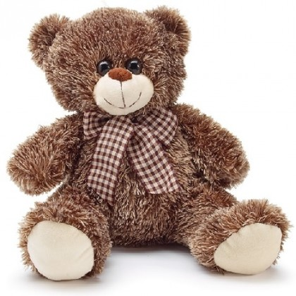 PLUSH BEAR WITH BROWN AND TAN FUR