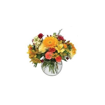 """Bubble Bowl"" Mixed Seasonal Flowers"