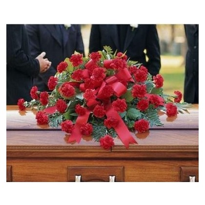 Red Carnation Casket Cover