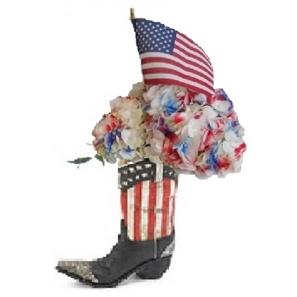 "Our ""Patriot"" Cowboy Boot Bouquet"
