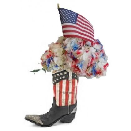 Our Patriotic Cowboy Boot