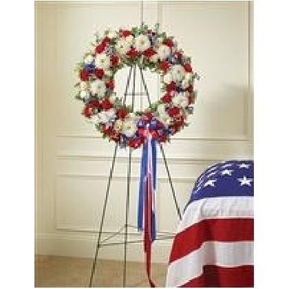 Standing Patriotic Veteran Wreath