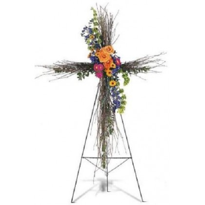 Sympathy Cross of Natural Birch Branches