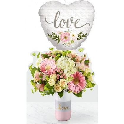 """Our """"Love Love Love"""" Bouquet with mylar balloon"""